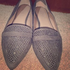 Aldo pointed toe bedazzled flats